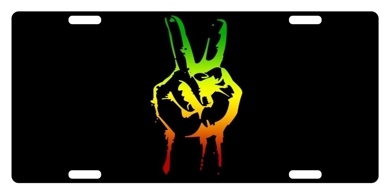 Bandera Rasta colores personalizado placa emblema Rastafari  039767fd227