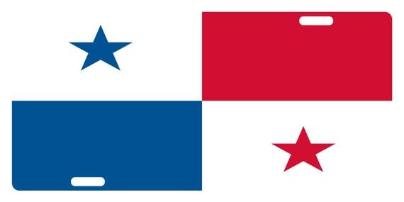 Panama Flag Custom License Plate Panamanian Emblem Eagle Version