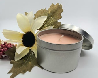 Peach Magnolia 8oz Soy Candle- Handmade Gifts- Aromatherapy- Hand Poured- Non-Toxic- Candle Gift- Meditation Candle