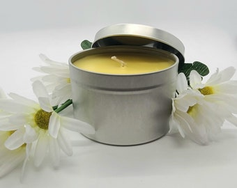 Honeysuckle Jasmine 8oz- Soy Candle- Handmade Gifts- Aromatherapy- Hand Poured- Non-Toxic- Candle Gift- Meditation Candle