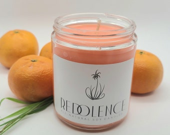 Citrus Bliss 8oz Soy Candle- Handmade Gifts- Aromatherapy- Hand Poured- Non-Toxic- Candle Gift- Meditation Candle