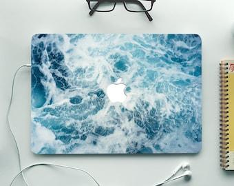 Ocean MacBook Skin Decal Sea Wave Macbook Pro 15 Stickers Macbook Pro 2016 Skin Macbook Air 13 Vinyl Cover for Any Laptop Skins Decals MB446