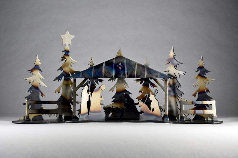 Natività Presepe Moderno Minimalista Centrotavola Di Natale Etsy