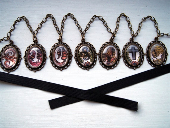 Undertaker Black Butler Waist Chain Necklace