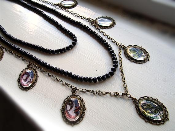 Undertaker Black Butler Waist Chain Necklace Set