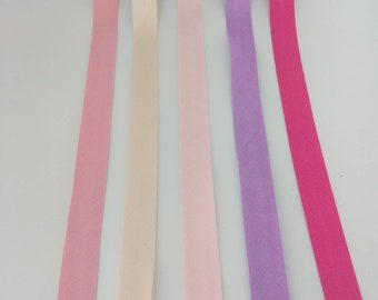 WIDE BLACK BLUE GREEN WHITE PINK PURPLE 0.59/'/' SATIN BIAS BINDING TAPE 15mm