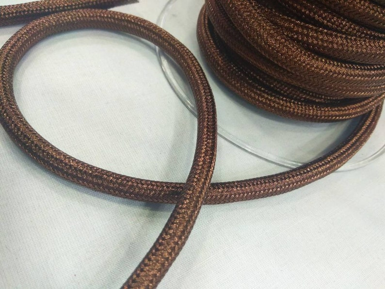 Metallic brown cord 1 yard or 92cm Braided rope cord Metallic Brown Round Climbing Cord 10mm