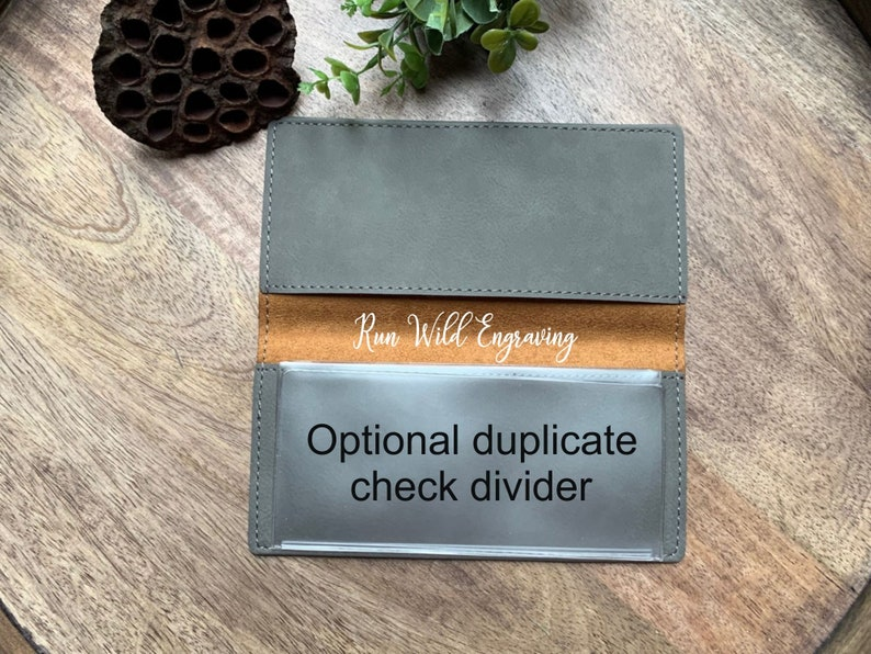 Personalized Engraved Checkbook Cover With Name And Leaf Vegan Leather Engraved Checkbook Holder Checkbook Wallet Bank Book