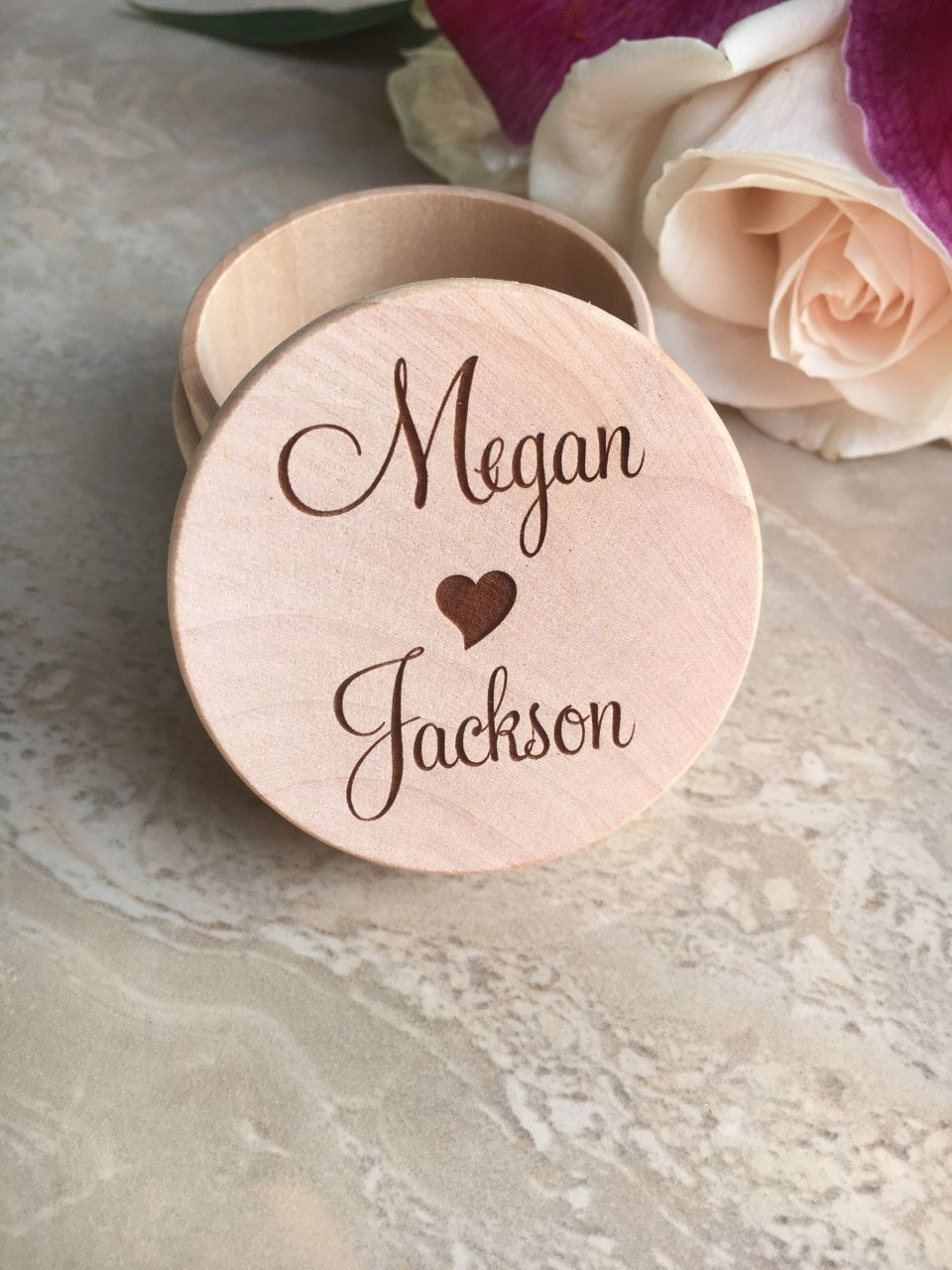 Personalized Ring Box Engraved Ring Box Engraved Wedding Ring Box ...