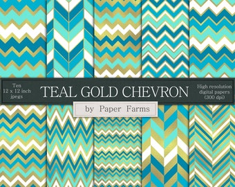 Blue gold chevron  d2efd0f543c3