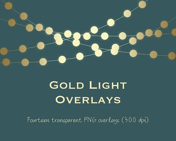 String Lights Clipart Enchanting Gold Light Clipart Gold String Lights Clipart Gold Light Etsy