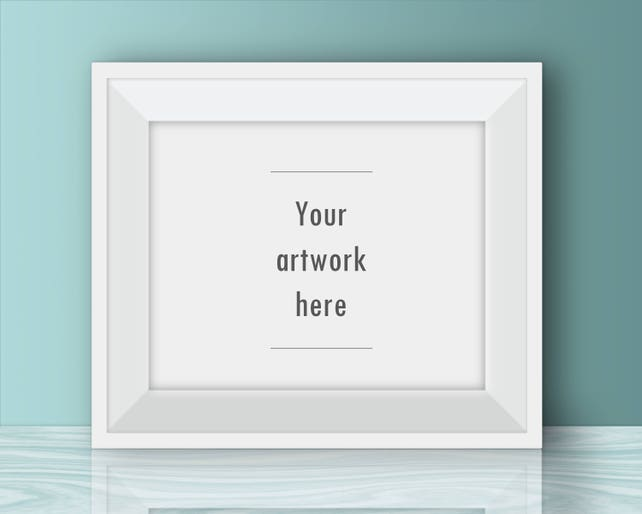 Horizontal poster mockup 10 x 8 inches 5 x 4 inches 20 x 16   Etsy