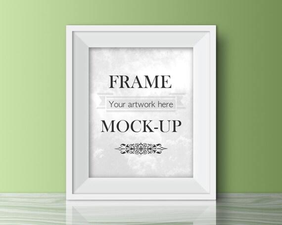 Frame mock-up pastel green digital frame digital wall   Etsy