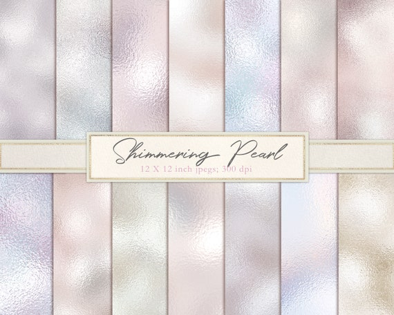 Ivory pearl//silver foil pattern paper