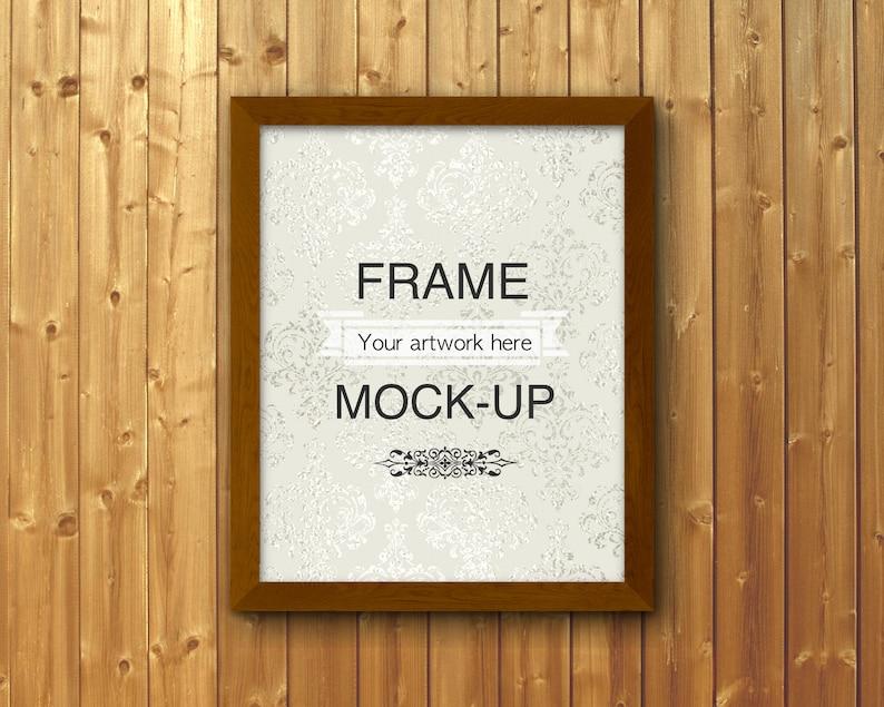 rectangular frame mockup Frame mock-up 4:5 aspect ratio etsy listing photo wood background 8x10 DOWNLOAD mockup digital frame 16x20