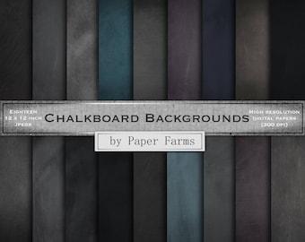 Chalkboard backgrounds, chalkboard digital paper, chalkboard scrapbook paper, blackboard backgrounds, blackboard digital paper, DOWNLOAD
