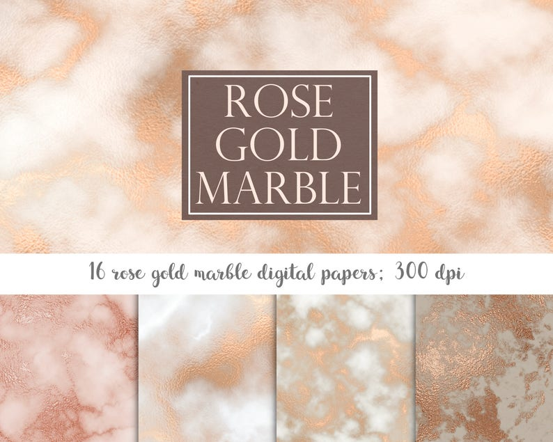 Documento Digitale In Marmo Delloro Rosa Rose Oro Marmo Etsy