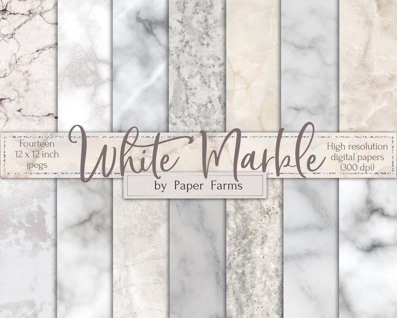 Sfondo In Marmo Bianco Bianco Marmo Carta Digitale Carta Etsy
