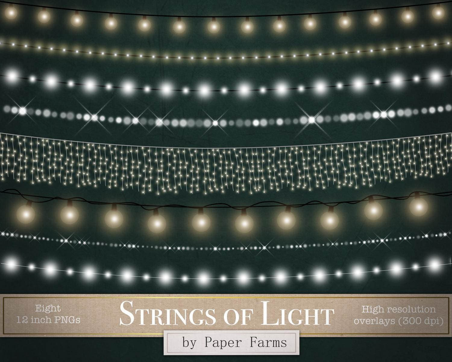 Strings Of Light Clipart Borders