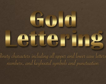 50% off, Gold Lettering, Digital gold lettering,  Metallic alphabet, Gold alphabet, digital paper, instant download, gold font, DOWNLOAD