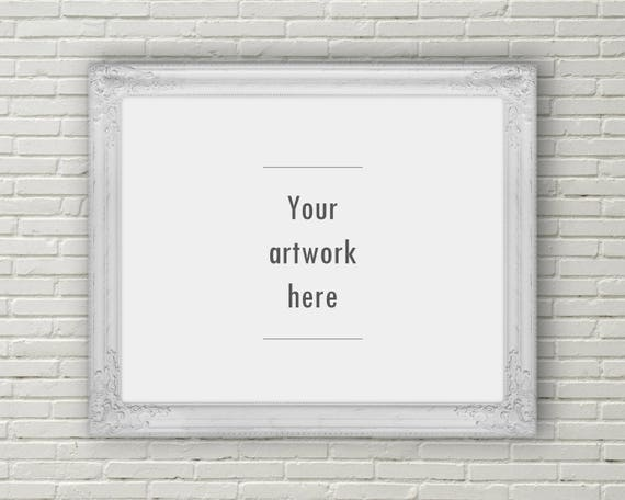 Ornate Frame Mockup Horizontal Mockup 10 X 8 Inches 5 X 4 Etsy