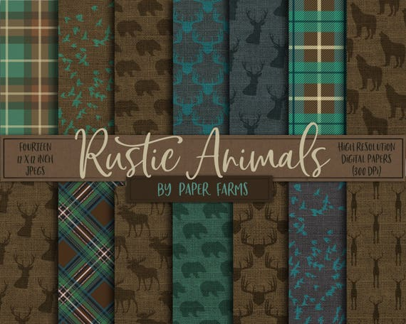Rustic Digital Paper Rustic Scrapbook Paper Fall Autumn Etsy
