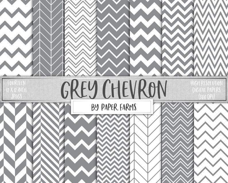 1f2044004 Grey chevron gray chevron digital paper scrapbook paper