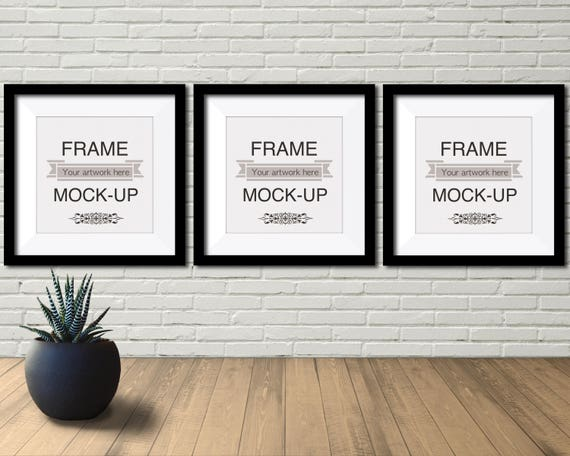 3 picture frames on wall living room image three panel mockup frame three poster artwork etsy
