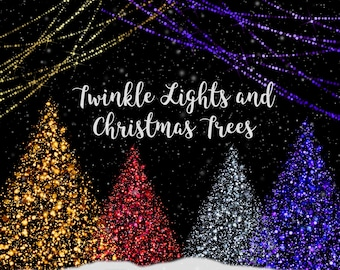 Stunning Christmas Trees And Lights Clipart Glowing Tree Bokeh String With Fairy