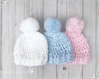 4e569a28b3c12 Crochet newborn hat