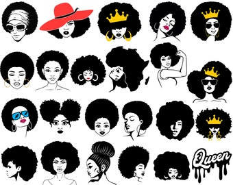 Melanin svg Afro Woman svg Natural Hair Silhouette African Turban svg Black History File for Cricut Headwrap svg Instant download