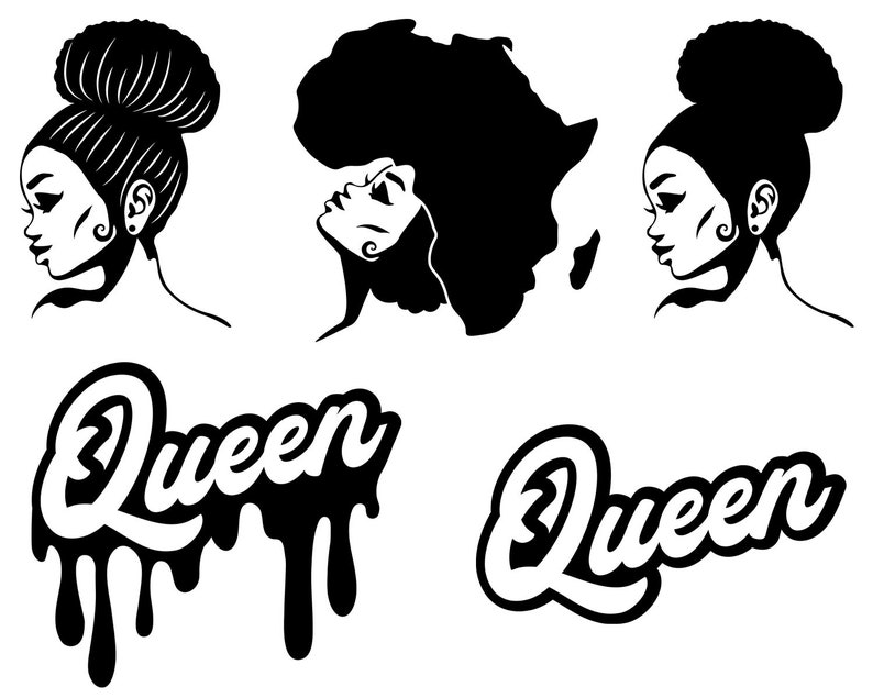 afro woman svg afro girl svg afro queen svg afro lady svg
