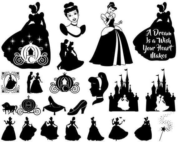 dxf dxf png png image files Cinderella bundle svg Disney svg png dxf Cinderella svg Cinderella cricut