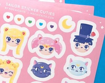 """Sailor Sticker Cuties 4x6"""" Sticker Sheet"""