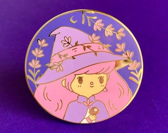 Lavender Witch Pin