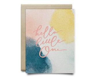 Hello Baby Girl Greeting Card