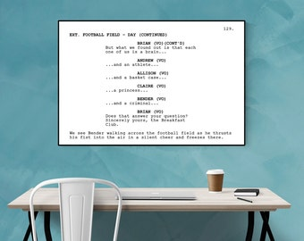 The Breakfast Club - Screenplay Movie Poster