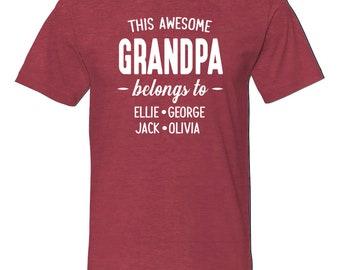 2ad3e035919 -Unisex Shirt - Grandpa Shirt - Grandpa Gift - Personalized Grandpa Shirt -  Grandkids Names Grandpa Shirt
