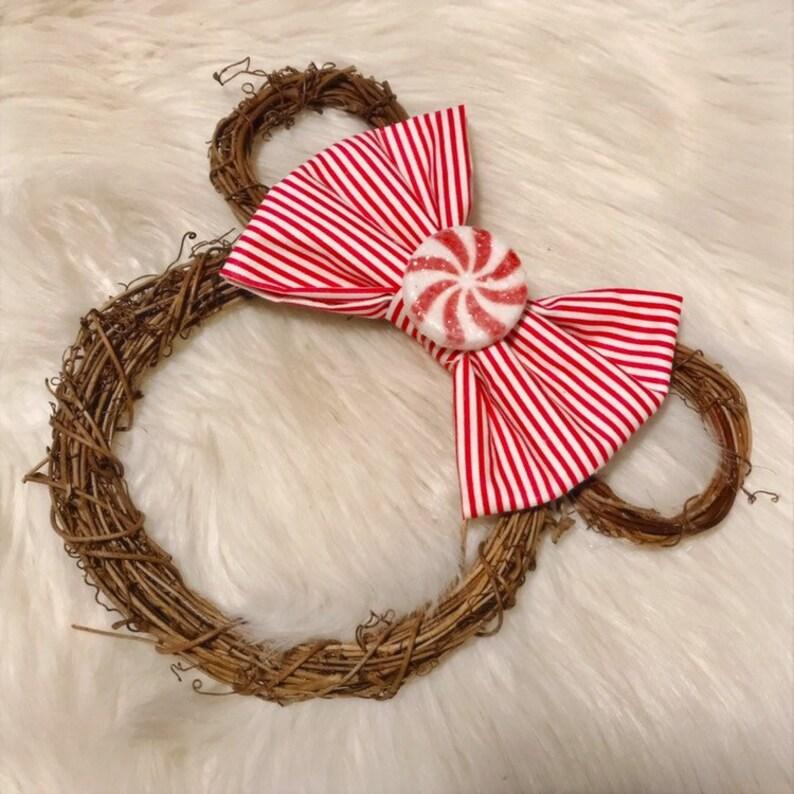 Mini pepermint mickey wreath