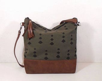 189d21fce6 Canvas crossbody purse Large Medium
