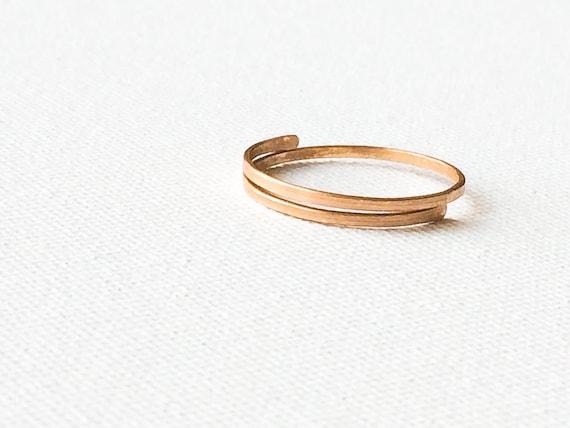Minimale Bronze Ring einfache Bronze Ring handgefertigte