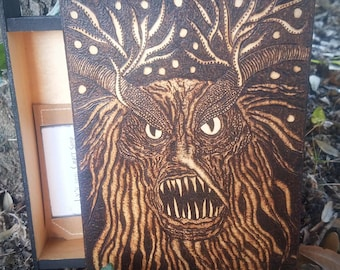 Wood Burned Krampus Box