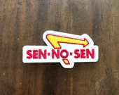Embroidered morale patch: Sen no sen