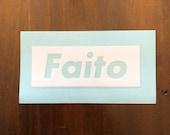 Faito vinyl sticker - white