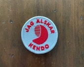 "Embroidered Morale Parody Patch: Jag älskar kendo (""I love kendo"" in Swedish)"