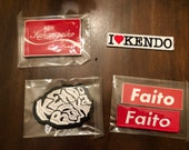 Kendo patch and sticker pack