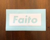 Faito vinyl transfer sticker - white