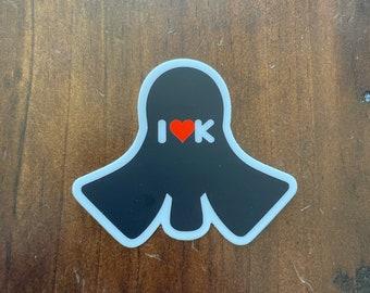 Kendo silhouette sticker