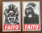 Godzilla/Kong Faito Vinyl Sticker/Decal Combo pack