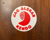 Parody sticker: Jag älskar kendo